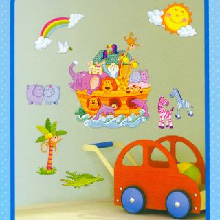Baby Kid Decor Noah's Ark Style Removable DIY Wall Paper Decal Sticker Vinyl New