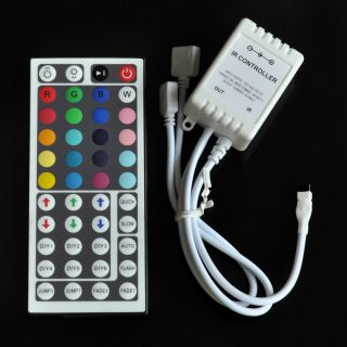 44 Key IR Remote Control Controller for 5050 RGB LED Light Strip Two Outputs