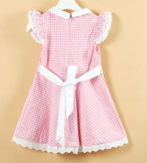1 PC Girl Scottish Playdress Skyblue Pink Tartan Playdress Toddler Kid 2T 6Y New