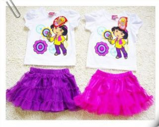 Girls Kids Dora SZ1 5Y Costume Summer Dress Tutu Skirt Outfit Clothes Free SHIP