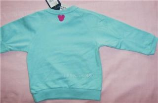 New Adidas Disney Minnie Mouse Baby Girls Full Tracksuit Turquoise Green Pink