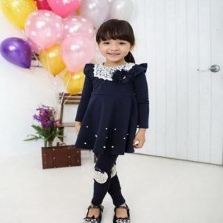 Girls Kids Dresses Skirt Clothes 1 Pcs Set 2 7Y Baby School Toddler Costume Top