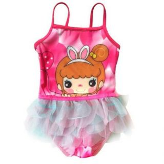 Girls Dora Princess 2 8Y Swimsuit Swimwear Swim Costume Tankini Bikini Surfing