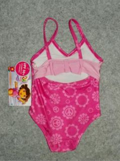 Dora The Explorer Toddler Girls Bathing Swim Suit Swimwear Size 12 18 Months