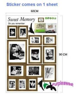 Memory Photos Removable Wall Vinyl Sticker Decal Dining Room Bedroom Home Decor
