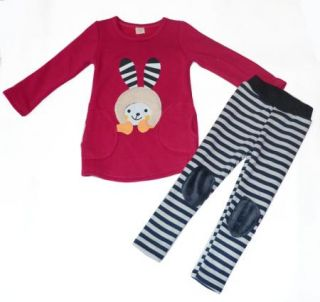 Girls Kids Long Sleeve Top T Shirts Leggings Set 3 7Y Winter Warm Lovely Outfit