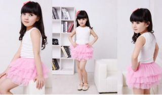 Girl Princess Baby Mini Tutu Dress 6LAYER 2 7Y Tulle Summer Party Skirt Clothing