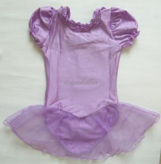 Girl New Gym Leotard Ballet Tutu Skirt Dress Sz 4 6 8Y