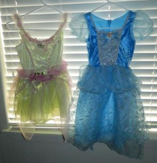 Huge Girls Disney Princess Dress Up Costume Lot Sz 4 6 Merida Ariel Wedding Doll