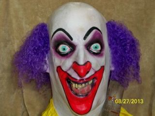 Creepy Demented Scary Crazy Insane Lust Clown Mask Costume TA479