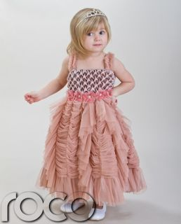 Baby Girls Dresses Dusty Pink Wedding Bridesmaid Party Formal Dress 2 11 Years