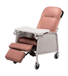 Lumex 574G Three 3 Position Recliner Geri Chair Rosewd