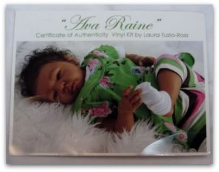 Reborn OOAK Fake Baby Doll Girl Ethnic AA Ava Raine