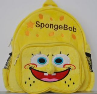 BG0024 Boy Girl Kids Spongbob Yellow Cutton Children Backpack Bag