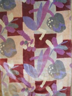 Panel Curtain Antique French Velvet Art Deco Portiere Floral Decor