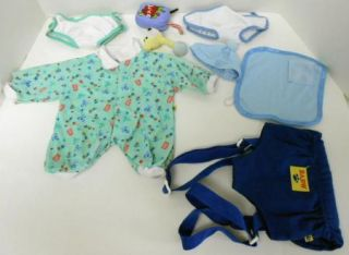 Build A Bear Clothes Baby Set Lot 8 Pajamas Hat Juicebox Rattle Blanket Carrier