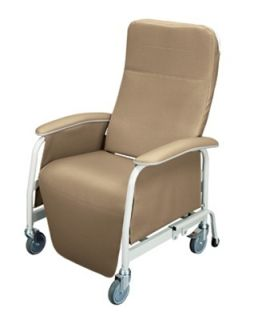 Lumex 565WG Extra Wide Recliner Geri Chair Warm Taupe 565WG409
