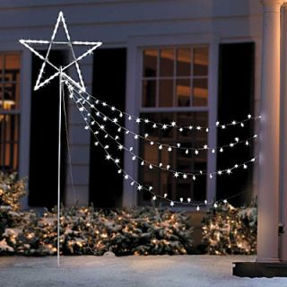 Large Shooting Star Outdoor LED Twinkle Light Christmas Holiday Tree Yard Stake