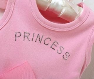 New Girl's Baby Short Top Set Suit Bodysuit Costume Clothing Pricess Dress 0 36M