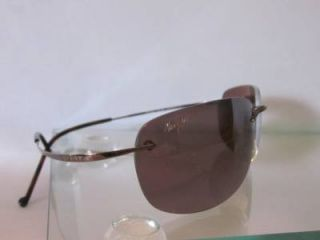 Maui Jim MJ Sport Mens Designer Brown Signature Logo Polarized Sport Sun Glasses