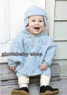 Reversible Baby Boy Girl Poncho Coat Warm Soft AGE1 3