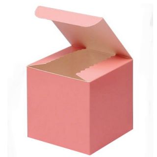 Cupcake Cookie Candy Wedding Favor Treat Gift Box 3x3 10BX Pink