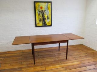 RARE Mid Century Danish Modern Teak Extending Table Mobelfabrik