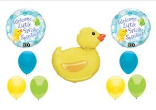 Baby Shower Balloon Kit Rubber Ducky Duckie Frog Duck Girl Decorations Supplies