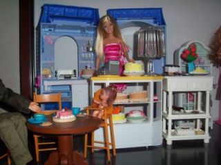 Bakery Shop Cake Room Barbie Pie Set Lot Diorama 1 6