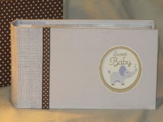 New Seasons Baby Boy Blue Elephant Photo Album Brag Book in Gift Box 80 Photos