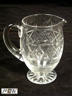 Vintage English Cut Glass Water Pitcher