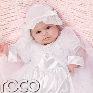 Baby Girls White Ivory Traditional Christening Gown Cheap Baptism Dress UK