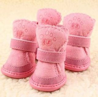 New Super Warm Cozy Pet Dog Boots Puppy Shoes 2 Colors 5 Size Love Dog Gift