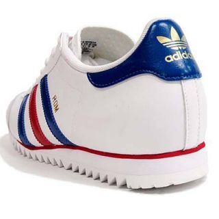 Adidas Trainers Shoes Mens Originals ROM Retro Fashion White Leather Size New