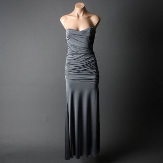 Gray Women's Formal Evening Party Gown Long Dress s Size