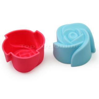 10 Silicone Rose Muffin Cookie Cup Cake Baking Mold Cake Decorating Supplies DIY