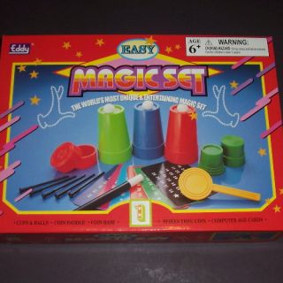 Eddy Magic Set 1 Easy Kit Trick Cups and Balls Spike thru Coin Card Starter