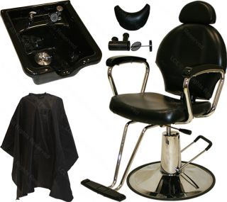 All Purpose Hydraulic Barber Chair Ceramic Shampoo Bowl Sink Spa Salon Equipment