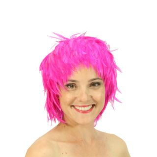 Wigs Feather Hackle Wig Hot Pink Costume Party Fancy Dress