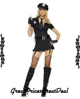 Sexy Costume Leg Avenue 83344 6 Pcs Lady Police Officer Sexy Party Costume