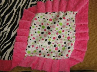 Swankie Blankie Minky Zebra Animal Print Baby Satin Back Receiving Blanket