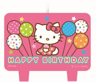 Hello Kitty Party Supplies 4pc Birthday Candle Set