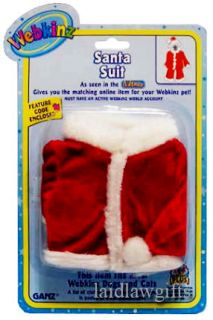 Webkinz Santa Suit Christmas Xmas Clothing Shirt Pants Hat Dogs Cats Webkins New