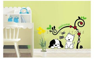 Quiet Puppy Wall Sticker Cute and Lovely DIY Decals Decor Art Home Removable