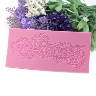 Silicone Impressing Mold Mat Fondant Cake Sugar Lace Flower Craft Decorate Tool