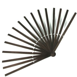 Fan Plain Staves Sticks Hand Fans Bamboo Brown Costume Party Fancy Dress