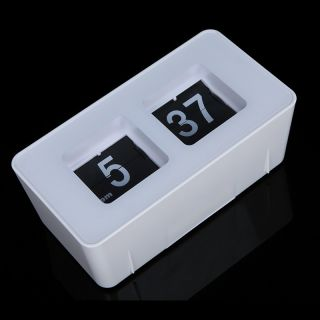 Retro Auto Flip Clock Classic Stylish Modern Desk Wall Home Decoration Clock