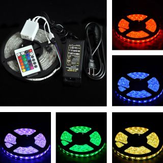 5M 5050 RGB SMD 150 8 Color LED Strip Light Waterproof 12V DIY Party Decorations