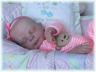 Adorable Reborn Donna RuBert Heather Baby Girl Tinysprouts 1 Day