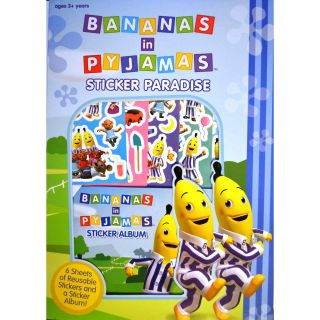 New Bananas in Pajamas Reusable Colouring Stickers Paradise Kids 6 Sheet Sticker